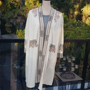 Nwt Johnny Was embroidered duster S